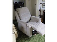 Fully Extending Armchair with Footrest. Fabric Covered. 18 month old. Free Local Delivery
