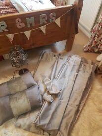 Grey- silver curtains & cushions