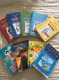 Books for kids ***wimpy kids and Harry hotter etc...***all for £6!