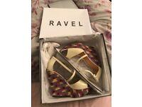 Brand new - women's wedge heels - revel size 4