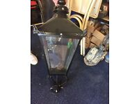 Black refurbished street lanterns