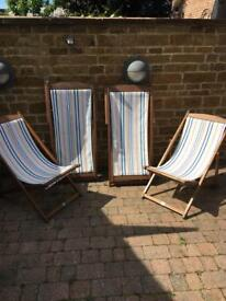 Traditional deck chairs SOLD