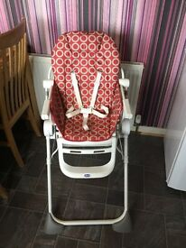 Chico Pocket Lunch Red Wave High Chair