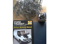 Ford Transit Haynes manual X-56 Reg, thermostat and traction chains