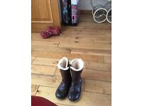 Girls brown leather uggs
