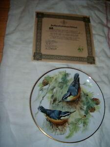 SET OF 8 EUROPEAN SONGBIRD PLATES WORLD WILDLIFE FUND (GERMAN) London Ontario image 7