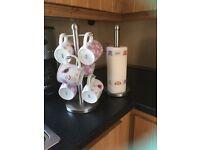 Mug tree & Kitchen roll holder