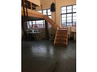 Amazing value 650 sqft London, south east, peckham workshop studio space - mezzanine, natural light