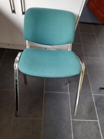 Chairs green used office job lot seating