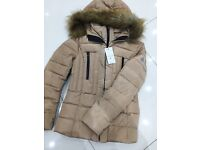 Brand New With Tags Ladies Moncler Yellow/Beige Brown Fur Jackets £55