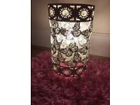 White metal butterfly lamp