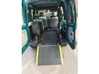Renault kangoo with wheel chair ramp