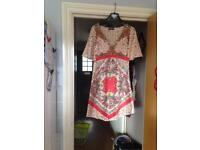 New Oasis silky floral dress size 12