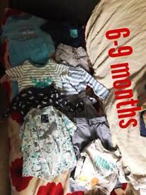 Baby clothes 6-9 9-12, brilliant condition