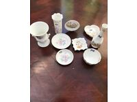 9 PIECES OF AYNSLEY CHINA