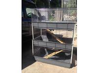 Multi level indoor cage hutch