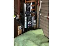Sony triple CD player with 2 speakers and a extra free