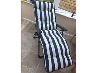 Reclining sun lounger. Unused and spotless.