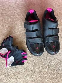 Road Bicycle gloves and shoes