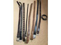 9 assorted belts