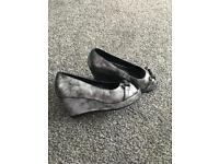 Girls size 1 River Island wedges