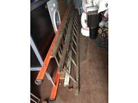 4 x Vintage Industrial Wooden/ Scaffolding Ladders Prop Artist Warehouse Loft