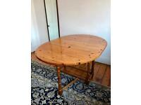 Beautiful vintage solid wood folding dining table