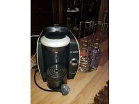 Tassimo coffee maker with pod holder