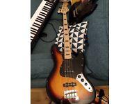 Harley Benton vintage series electric bass guitar
