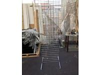 Gridwall Mesh Chrome Panel 8ft x 2ft and 6ft x 2ft retail shop accessory