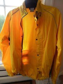 Yellow Cycling Rain Jacket Deisigned by Polaris.