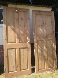 3 solid pine doors