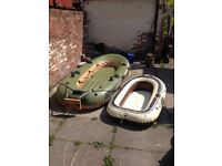 Best way voyager 500 large 3/4 person dingey with transom board and fitmentsm,oars Extra dingey also