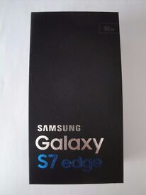 Galaxy S7 Edge in Black Onyx, brand new boxed and unopened water-resistant phone
