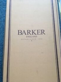 Pair of never worn Barker's (men) loafers size 9. Brown. Original packaging with shoe horn included