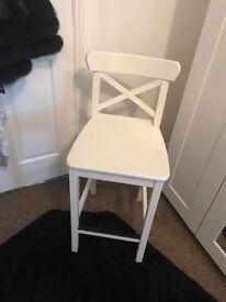 White Ikea stool
