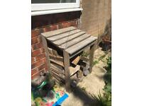 Wooden log store £40 with wood! Bargain!