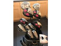 Ladies Golf Clubs set, complete with drivers, bag and trolley.