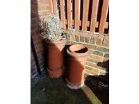 2 original chimney pots