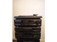 Technics completete stereo system. SL-BD22D SL-PG480A RS-TR373 SA-EX310
