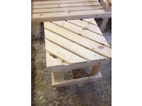 Handmade garden furniture. Prices as per listing,