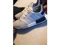 Men's adidas nmd-r1's white size 8