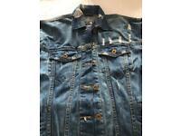 Distressed Boohoo Denim Jacket size 6 (new)