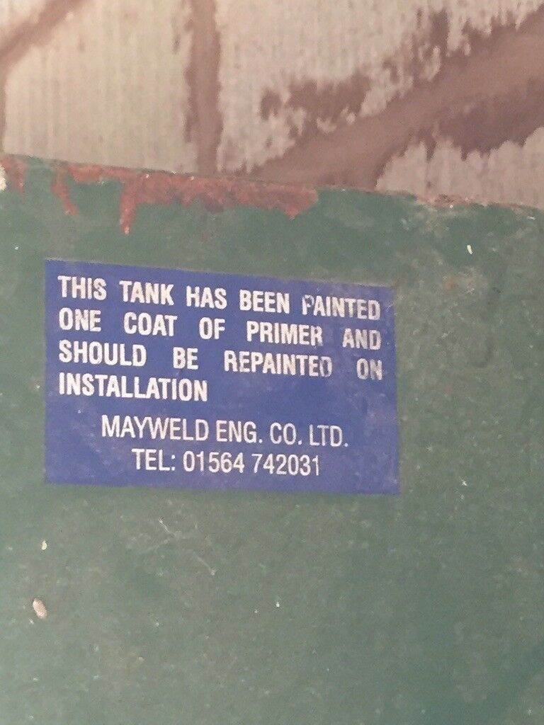 Mayweld single skin oil tank 2500L