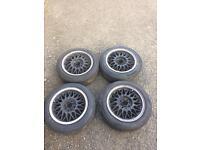"""BBS rz ra alloy wheels, 14"""" 6.5J 4x100"""