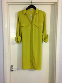 **BRAND NEW WITH TAGS** Womens size 10 lime green top from River Island
