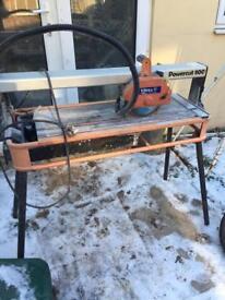 Virtex powercut 800 240v table bench tile cutter saw wet