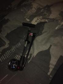 Bicycle shock pump. High pressure.