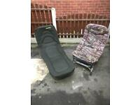 Fishing chair and bed for sale