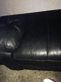 Leather sofa leather 3 seater